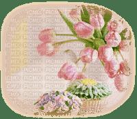 spring printemps flower fleur blossoms fleurs overlay tulips tube deco pink blumen fond background