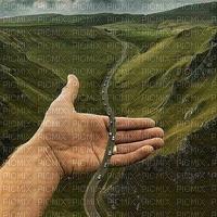 surreal fantasy fond background paysage image  surréaliste fantaisie landscape street way hand  rue road