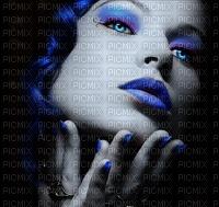 woman face blue