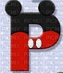 image encre lettre P Mickey Disney edited by me