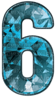 Kaz_Creations Numbers Blue Crystal 6
