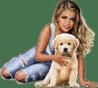woman dog jeans femme chien 👩🦱🐶