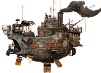 steampunk pirate ship bp
