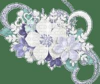 Déco fleurs pastel bleu
