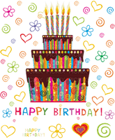 image ink happy birthday candle heart cake color edited by me