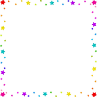 Rainbow stars frame