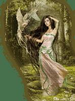 femme pigeon woman doves