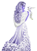 kikkapink woman winter bird fantasy
