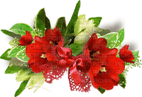 red flowers deco fleurs rouge