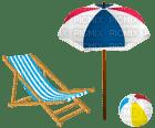 Kaz_Creations Beach Chair and Umbrella Parasol