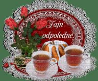 GIF, bonjour, texte,thé, vaisselle, roses, biscuits,tube,deko,Adam64