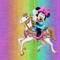 image encre couleur cheval dessin arc en ciel pastel anniversaire effet  Minnie Disney  edited by me
