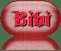 Bibi ovale rouge