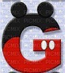 image encre lettre G Mickey Disney edited by me