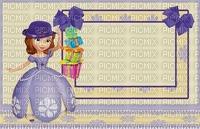 image encre couleur bon anniversaire effet cadeaux princesse Sofia Disney chapeau edited by me