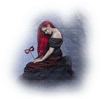 woman red hair mask femme rouge cheveux masque
