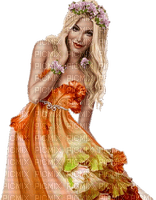 woman orange femme orange