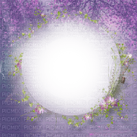 spring printemps flower fleur blossom fleurs blumen  tube frame cadre rahmen overlay fond background purple