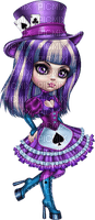 cookie doll deco tube girl puppe  poupée playing card carte à jouer