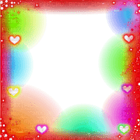 Frame, Frames, Love, Valentine, Happy Valentine's Day, Deco, Decoration, Heart, Hearts, Effect, Effects, Multicolor, Rainbow - Jitter.Bug.Girl