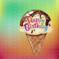 image ink happy birthday ice cream cone party summer texture color edited by me