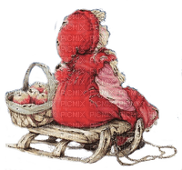 winter child on sleigh martine
