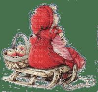 winter child on sleigh martine