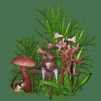 mushroom, plant, mouse