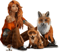 woman and animal-minou52