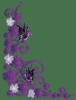 Fleur violet purple flower coin corner violette