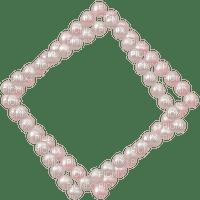 pearls vintage white perlen bulle frame