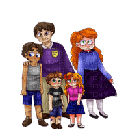 family children cartoon