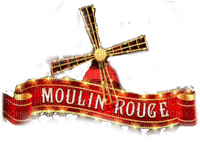 moulin rouge text  border deco