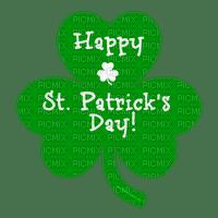 happy st.patrick day text