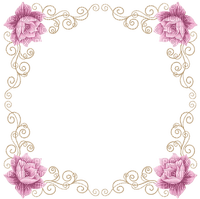 minou-frame-vintage-flower-pink
