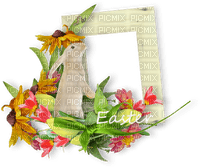 easter ostern Pâques paques deco tube bunny hase lapin animal flower fleur frame cadre text