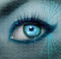 oeil femme bleu