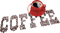 cafe  coffee  cup text deco tube beans kaffee tasse red
