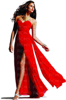 red dress woman