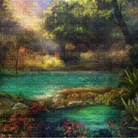 loly33 painting fond paysage
