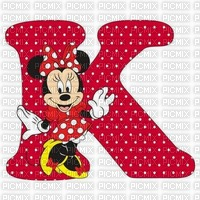 image encre lettre K Minnie Disney edited by me