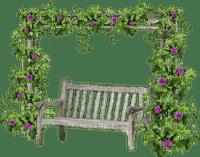 Kaz_Creations Garden Deco Bench Seat Flowers
