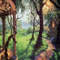 FANTASY GARDEN BG fantaisie jardin fond