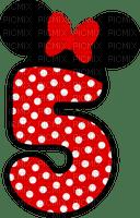 image encre bon anniversaire numéro 5   Minnie Disney edited by me