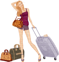 lady femme voyage GS