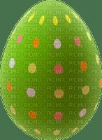 Oeuf de Paques décoré vert