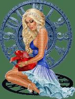 fille, Fantasy, horloge, bonjour,deko,tube, Orabel