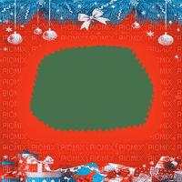 soave frame christmas ball branch blue orange