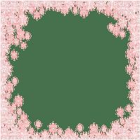 pink snow flake frame