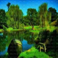 paysage landscape fond background summer ete spring printemps frühling primavera весна wiosna tree arbre garden jardin image pond teich entang